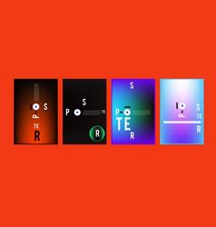 Minimalist covers design set cool geometric vector