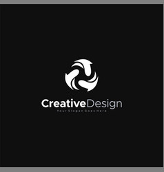 Modern black abstraction logo or element design vector