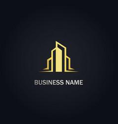 modern building logo vector image