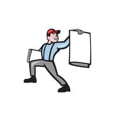 Newsboy Selling Newspaper Isolated Full Cartoon vector image