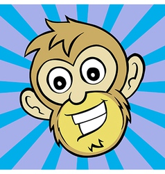 One Happy Monkey vector image