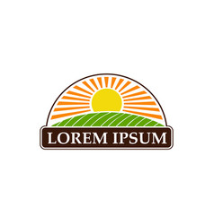 organic landscape logo design concept template vector image