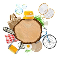 Picnic board vector