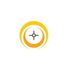 point target logo icon symbol element vector image