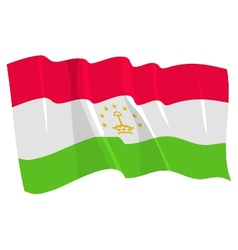 political waving flag of tajikistan vector image