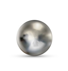 realistic glossy metallic ball with glares and vector image