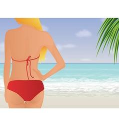 Red Bikini vector image