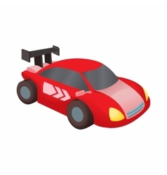 Red race car icon cartoon style vector image vector image