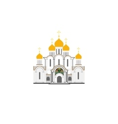 Russian Cathedral Church flat vector image