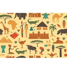 Seamless background on a theme of africa vector