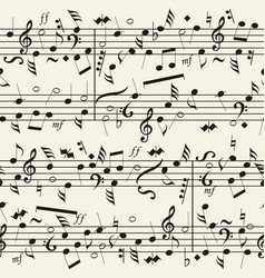 seamless musical notation background vector image
