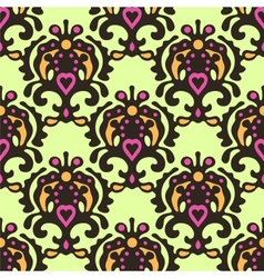 seamless pattern Damask vector image