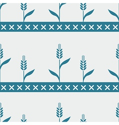 Seamless pattern with cereals vector image