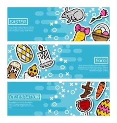 set horizontal banners about easter vector image