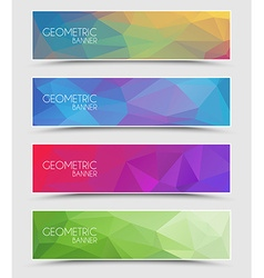 Set of geometric polygonal banner vector