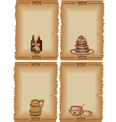 Set of menu template design vector image