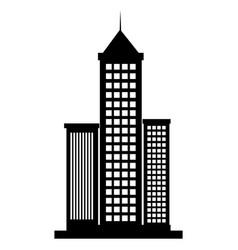 skyscraper buildings isolated icon vector image