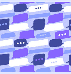 social chat balloon communication seamless pattern vector image