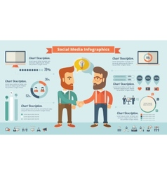 Social Media Infographic Elements vector