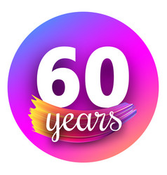 spectrum sixty years greeting card with colorful vector image