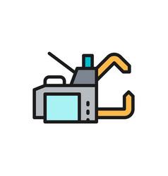 Spot welding machine flat color line icon vector