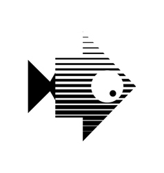Stylized of a fish Logo design for vector
