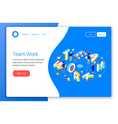 teamwork design concept vector image