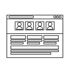Template webpage isolated icon vector