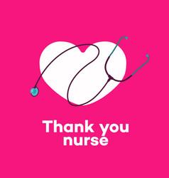Thank you nurse - concept vector