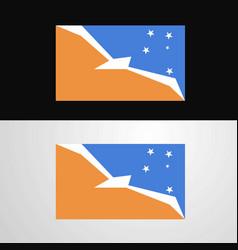 Tierra del fuego province argentina flag banner vector