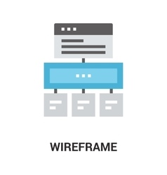 wireframe icon concept vector image