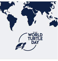 World turtle day template design vector