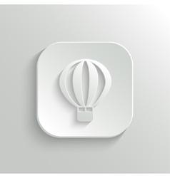 Air Balloon icon - web button vector image vector image