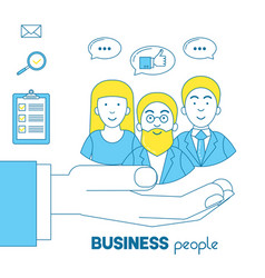 business people icon vector image