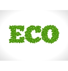 Eco friendly word FRESH made of green leafs vector image