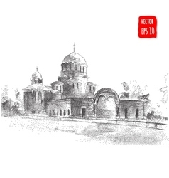 Hand drawn Cathedral vector image