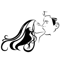 Kissing vector image vector image