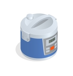 Multi cooker crock-pot multivarka isolated on vector image