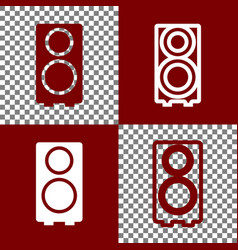 speaker sign bordo and white vector image