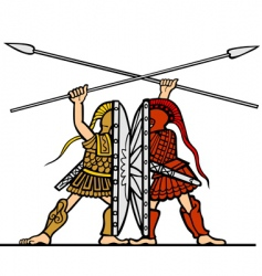 ancient fight vector image vector image