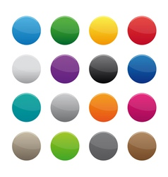 Blank round buttons vector image vector image