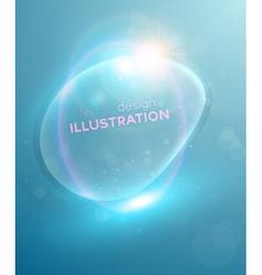 Blue Bubble Backdrop vector image vector image