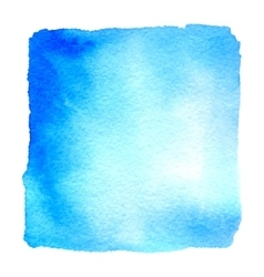 Light blue watercolor hand drawn banner vector image vector image