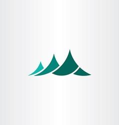mountain symbol logo element sign vector image vector image