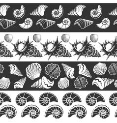 Sea seamless borders vector image vector image