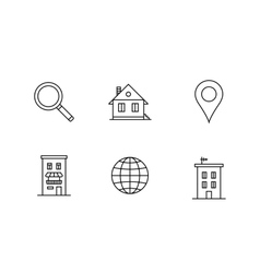 Accommodation booking icon set vector
