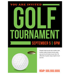 golf tournament flyer invitation vector image vector image