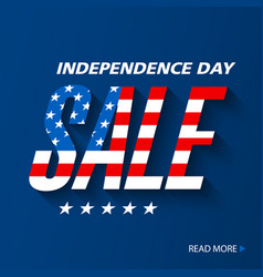 independence day sale banner design vector image vector image