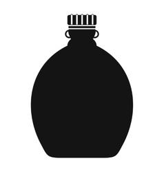Tourist flask black simple icon vector image