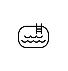 pool icon thin line black on white background vector image